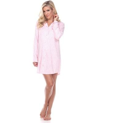 Women's Long Sleeve Nightgown - White Mark