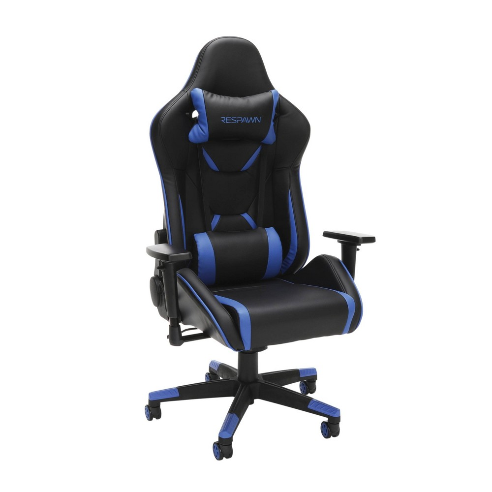 Image of 120 Racing Style Gaming Chair Blue - RESPAWN