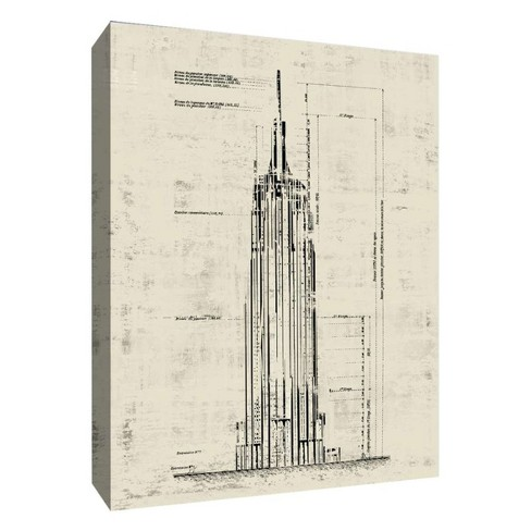 "New York Empire Decorative Canvas Wall Art 11""x14"" - PTM Images - image 1 of 1"