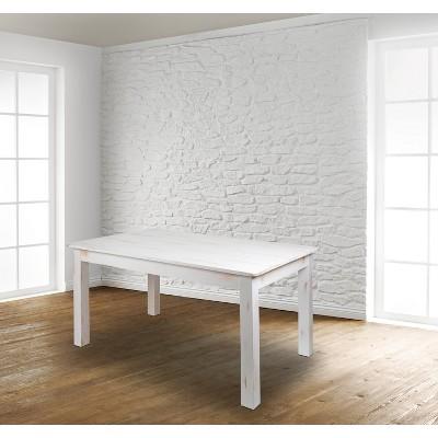 "Flash Furniture 60"" x 38"" Rectangular Solid Pine Farm Dining Table"