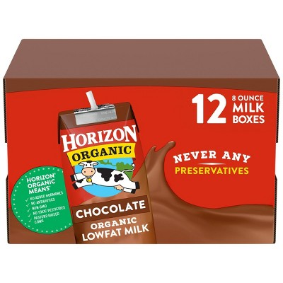 Horizon Organic Chocolate Low-fat Milk - 12ct