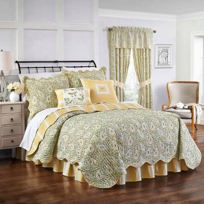 Green & Yellow Paisley Verveine Quilt Set 4pc - Waverly®