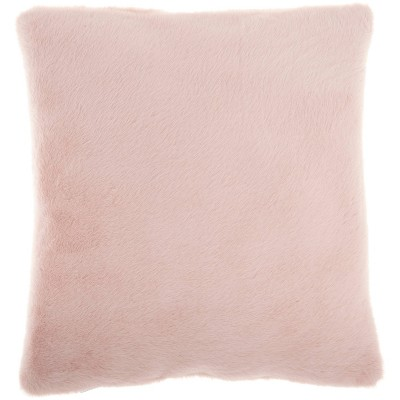 """20""""x20"""" Oversize 2 Sided Faux Fur Square Throw Pillow Pink - Mina Victory"""