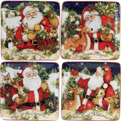 "Tabletop 6.0"" Magic Christmas Santa Canape Plates Holiday Certified International  -  Dining Plates"