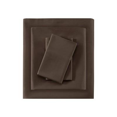 Liquid Cotton Sheet Set (King)Brown