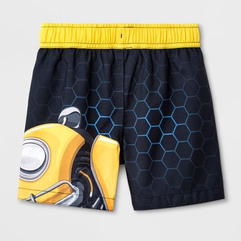eff04b258c6cf Toddler Boys' DC Comics Bumblebee Swim Trunks - Black : Target