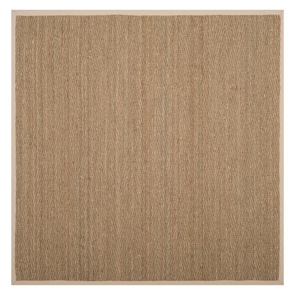 6'X6' Solid Loomed Square Area Rug Natural/Ivory - Safavieh