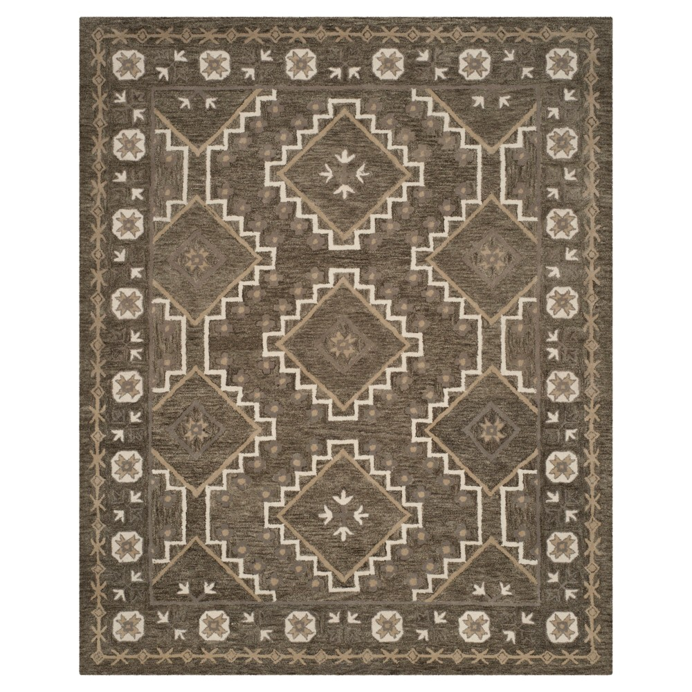Brown/Taupe Shapes Tufted Area Rug 6'X9' - Safavieh
