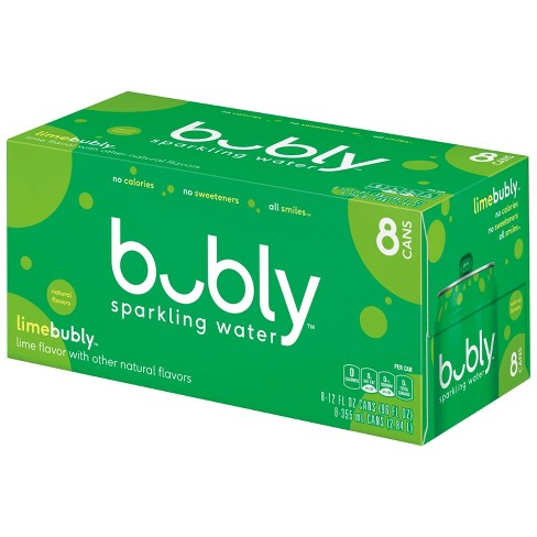 bubly Lime Sparkling Water - 8pk/12 fl oz Cans - image 1 of 4