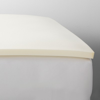 "King 1.5"" Memory Foam Mattress Topper White - Made By Design™"