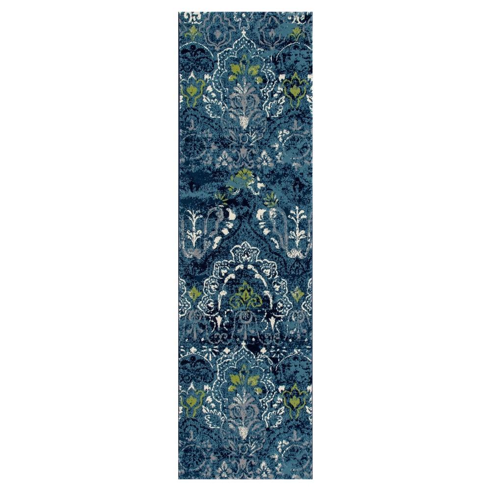 Vivid Teal Classic Woven Runner - (2'X8') - Art Carpet
