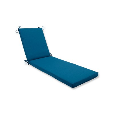 Indoor/Outdoor Spectrum Peacock Blue Chaise Lounge Cushion - Pillow Perfect