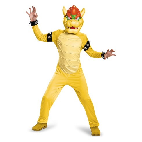 Kid's Super Mario Bros Bowser Halloween Costume M - image 1 of 1