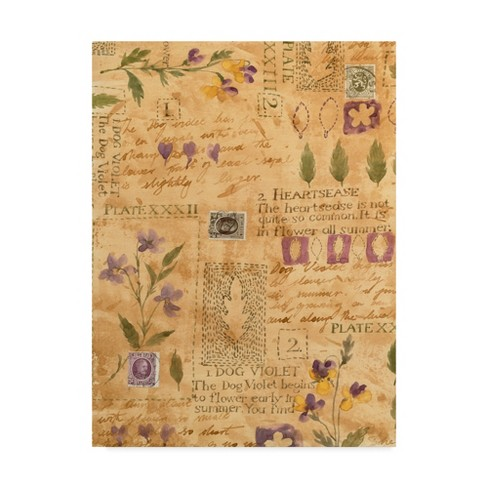 "Trademark Fine Art 18"" x 24"" Hope Street Designs 'Purple Floral Collage' Canvas Art - image 1 of 3"