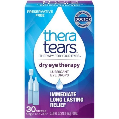 TheraTears Single Use Lubricant Eye Drops - 30ct