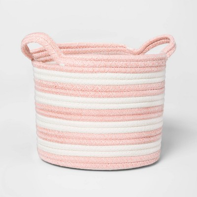 Small Coiled Stripe Rope Rose Pink - Pillowfort™