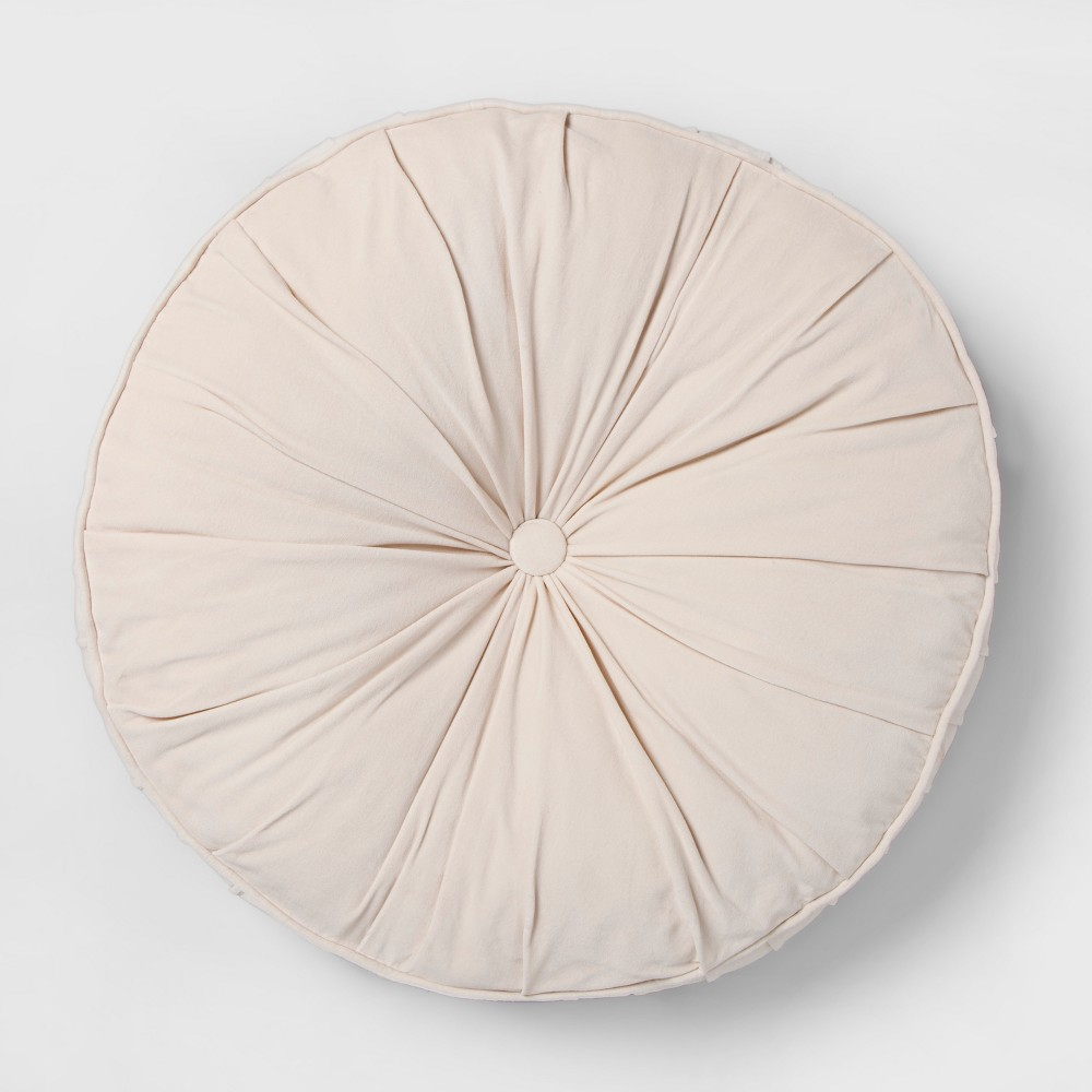 Velvet Floor Pillow Cream (Ivory) - Opalhouse
