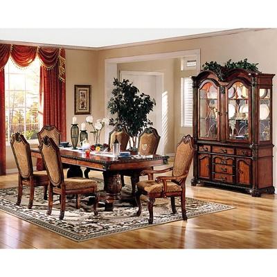 Chateau De Ville Dining Table With Double Pedestal Wood/Cherry   Acme