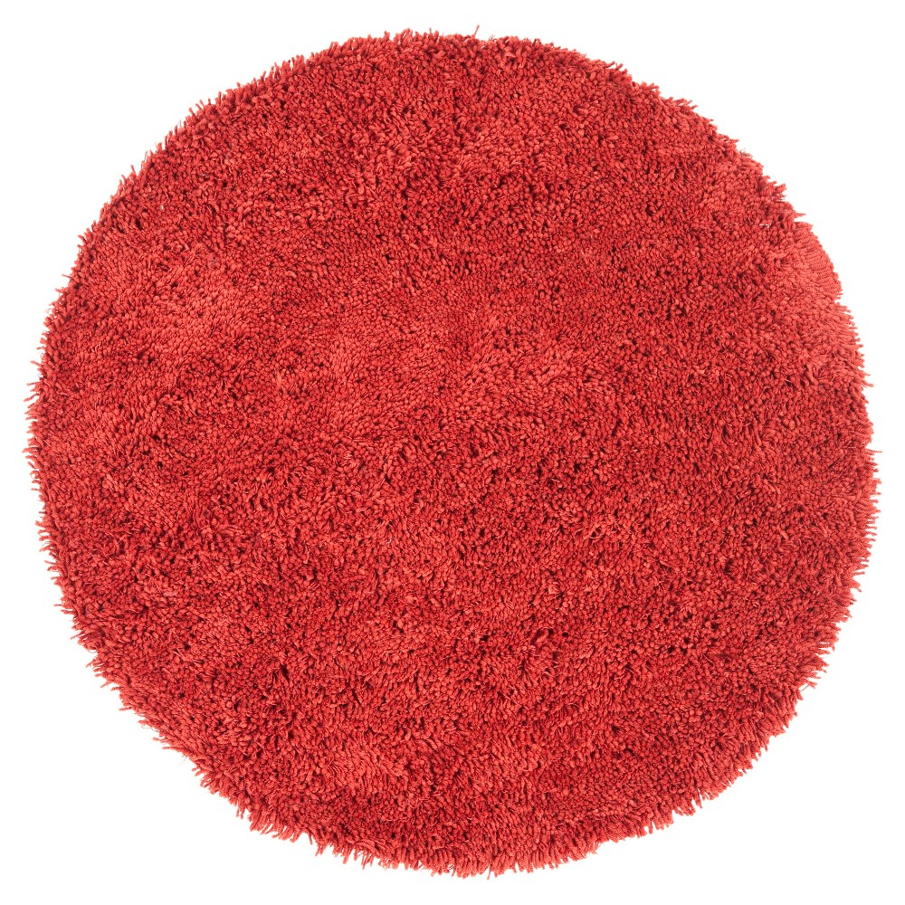 Rust (Red) Solid Tufted Round Accent Rug - (4' Round) - Safavieh
