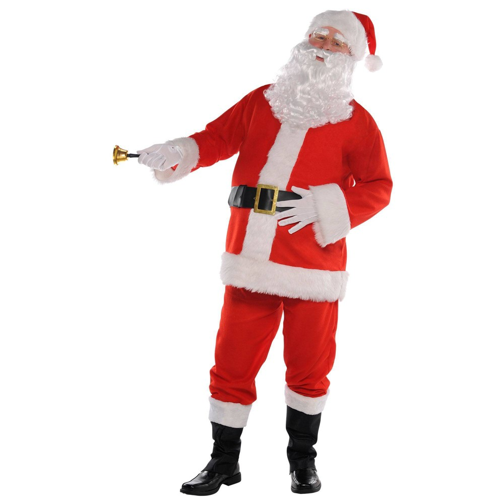 """Image of """"Halloween Classic Santa Suit Adult Costume XXL (up to 54"""""""" chest) - Amscan, Adult Unisex, MultiColored"""""""
