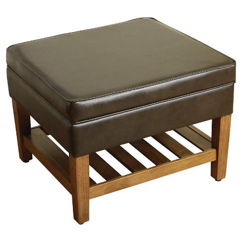 Newtown Storage Ottoman with Wood Slats - Threshold™ - image 1 of 1