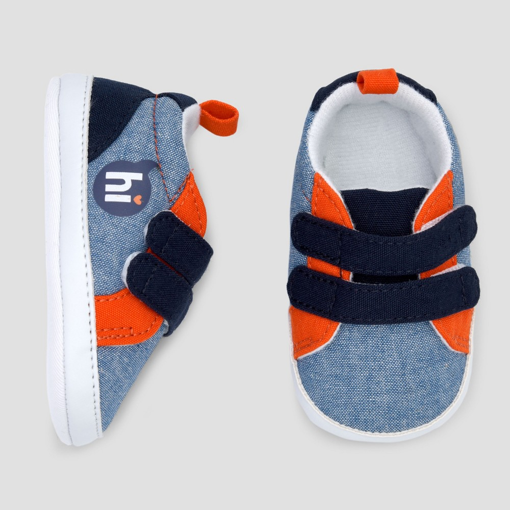 Baby Boys' Hi Sneakers - Cat & Jack Blue 3-6 M, Size: 3-6M