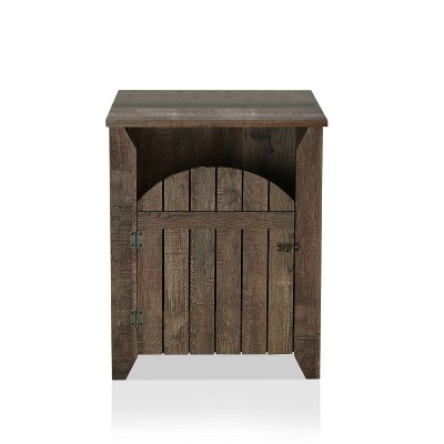 Wolfe Storage End Table Reclaimed Oak - HOMES: Inside + Out
