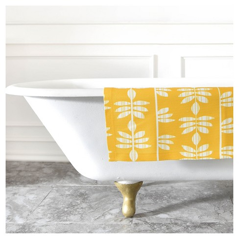 2'x 3' Heather Dutton Abadi Sunburst Bath Rug Yellow - Deny Designs - image 1 of 2