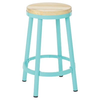 "26"" Bristow Adjustable Height Barstool Mint - OSP Home Furnishings"