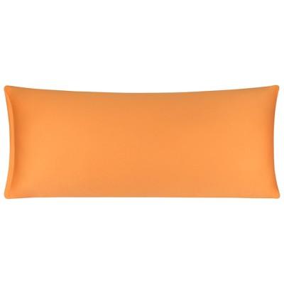 1 Pc Body Egyptian Cotton Zippered Pillowcase Orange - PiccoCasa