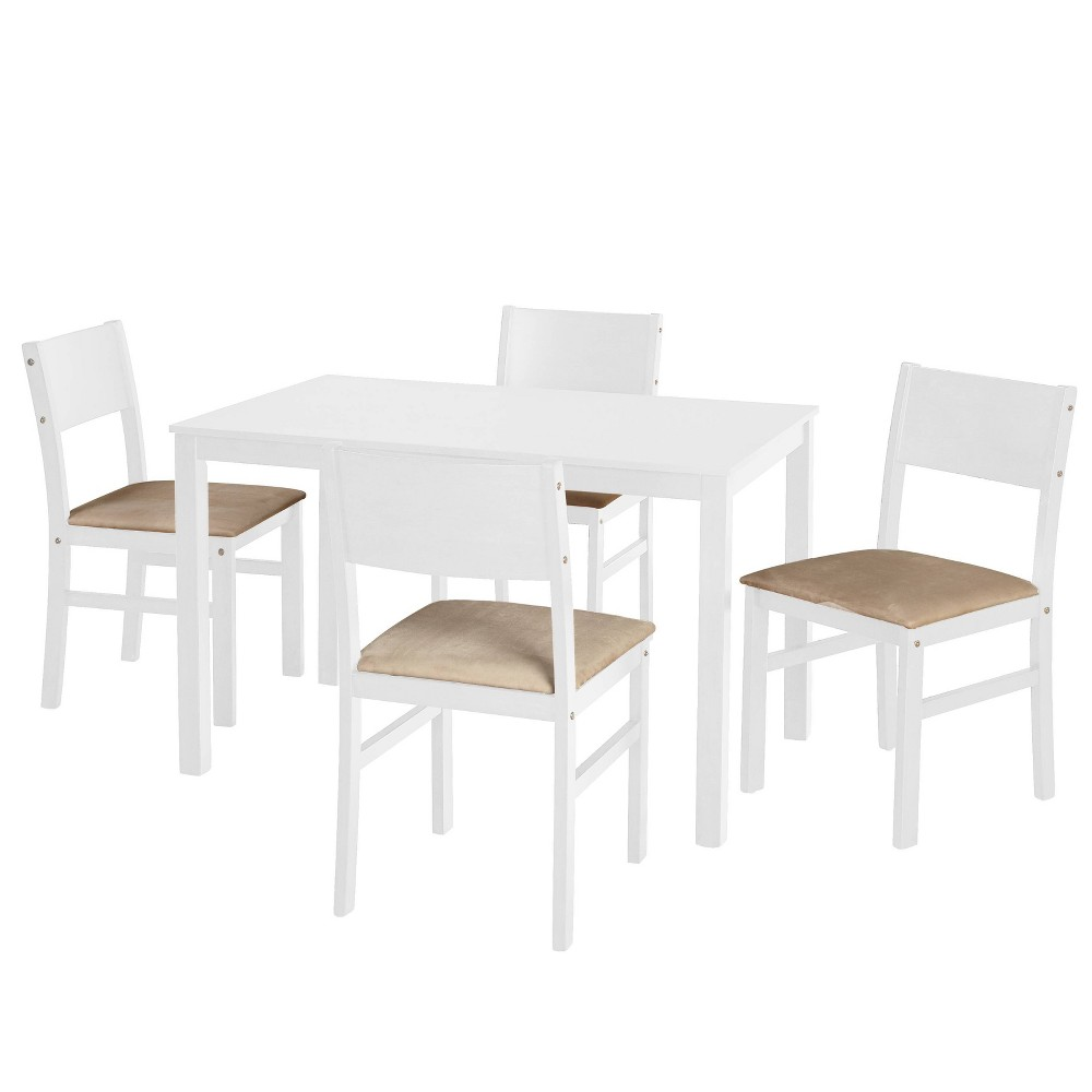 5pc Lucca Dining Set White - Buylateral