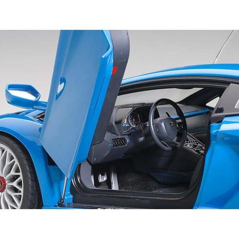 Lamborghini Aventador S Blu Nila Pearl Blue 1 18 Model Car By