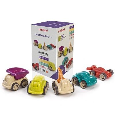 Miniland ECO Minimobil - Set of 5 Eco-Friendly Vehicles