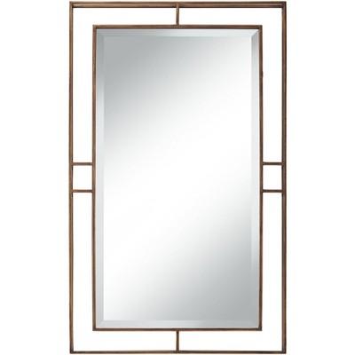 """Uttermost Clancy Antique Gold 24"""" x 40"""" Openwork Deep Wall Mirror"""