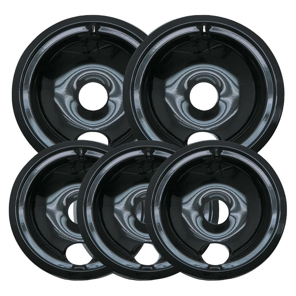 Range Kleen 5pc Porcelian Drip Pans 13741676