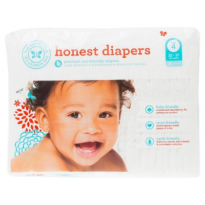 Honest Company Diapers White - Size 4 (29ct)