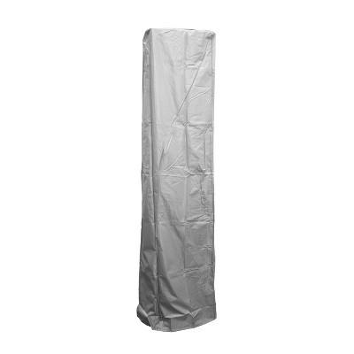 Square Glass Tube Patio Heater Cover - Silver - AZ Patio Covers