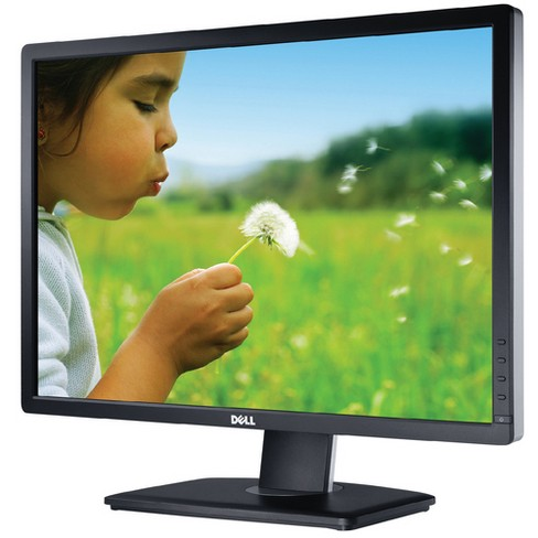 "Dell UltraSharp 24"" Monitor Black  -  1920 x 1200 LCD display - 8ms response time - In-Plane switching panel - Widescreen (16:10) - image 1 of 1"