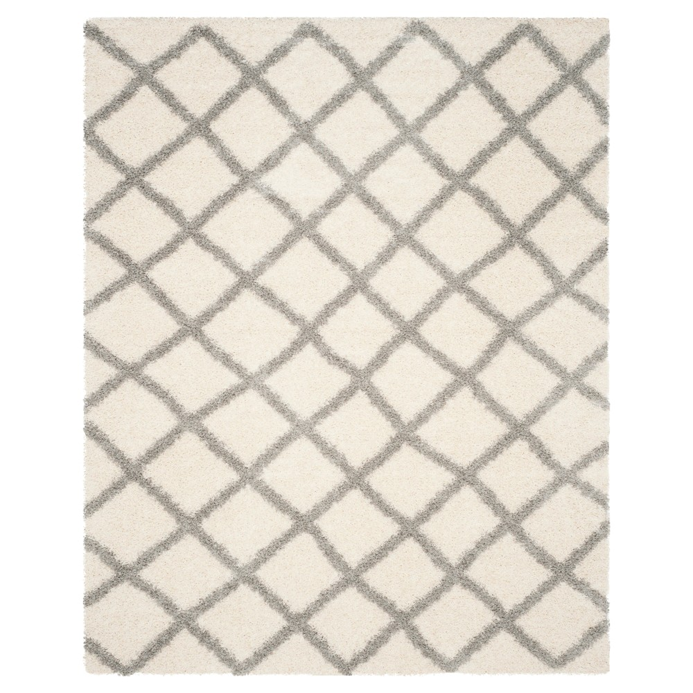 Ivory/Gray Geometric Loomed Area Rug - (8'X10') - Safavieh