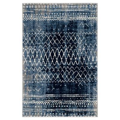 Light Blue/Cream Solid Loomed Area Rug - (4'x6')- Safavieh
