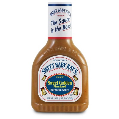 Sauces & Marinades: Sweet Baby Ray's Sweet Golden Mustard