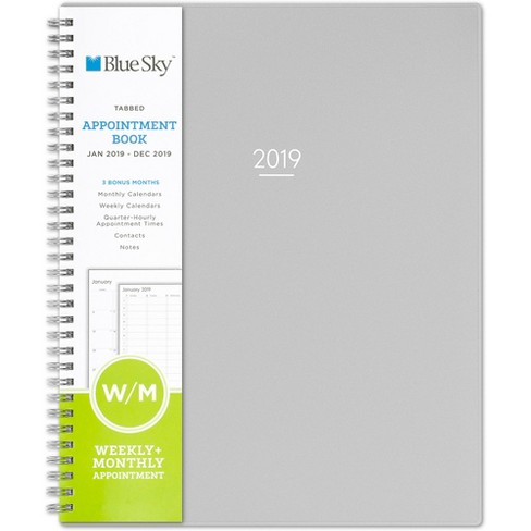 "2019 Planner 11""x 9"" Gray - Blue Sky - image 1 of 4"