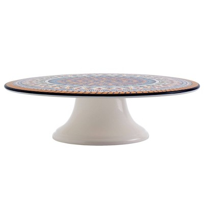 "12"" Earthenware Marseille Cake Stand - Tabletops Gallery"