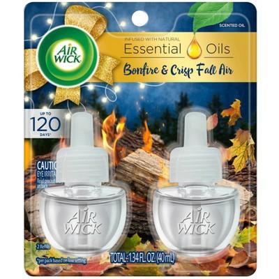 Air Wick Scented Oil Twin Refill Air Freshener - Bonfire & Fall Air - 1.34oz