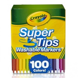 Crayola 100ct Super Tips Washable Markers