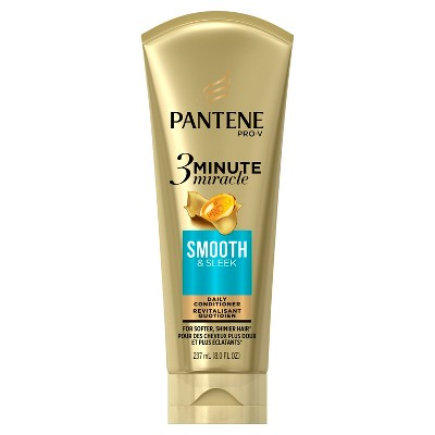 Shampoo & Conditioner: Pantene Pro-V 3 Minute Miracle Smooth & Sleek