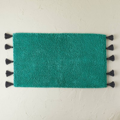 """20""""x32"""" Natural Scallop Tufted Bath Rug Teal - Opalhouse™ designed with Jungalow™"""