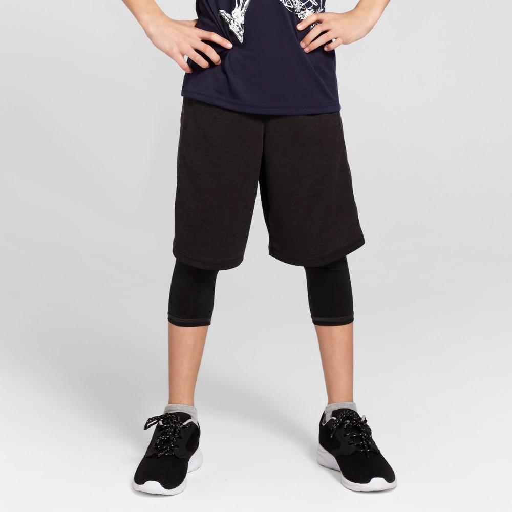 Boys' Heather Training Shorts - C9 Champion Black Heather M