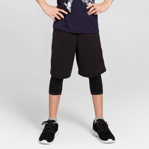 Boys' Heather Training Shorts - C9 Champion Black Heather XS, Boy's