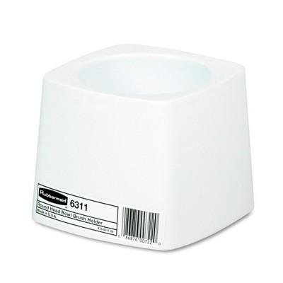 Rubbermaid Commercial FG631100WHT Plastic Toilet Bowl Brush Holder - White
